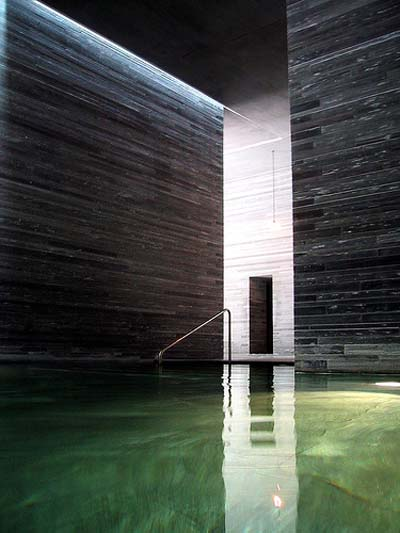 architectural retreat : therme vals : peter zumthor : openhouse