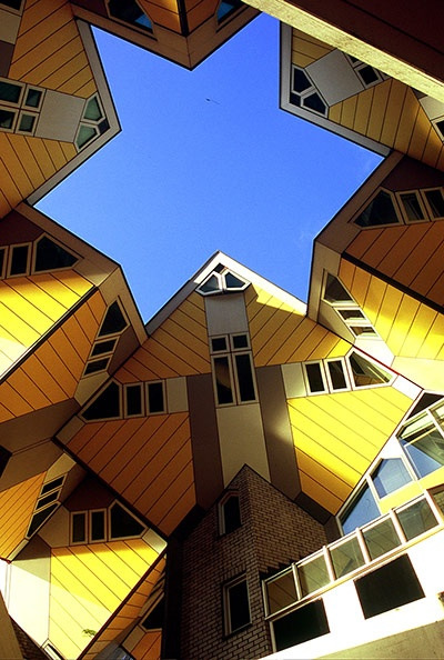 Square living architecture kubuswoningen cube house piet blom rotterdam netherlands - The cubic home ...